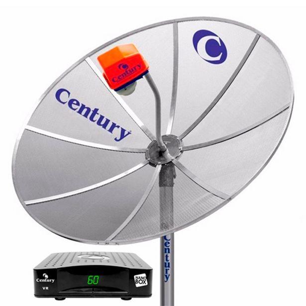 Oferta de Antena Century Multiponto Cinza com Receptor Analógico Nano Box Preto por R$199,9