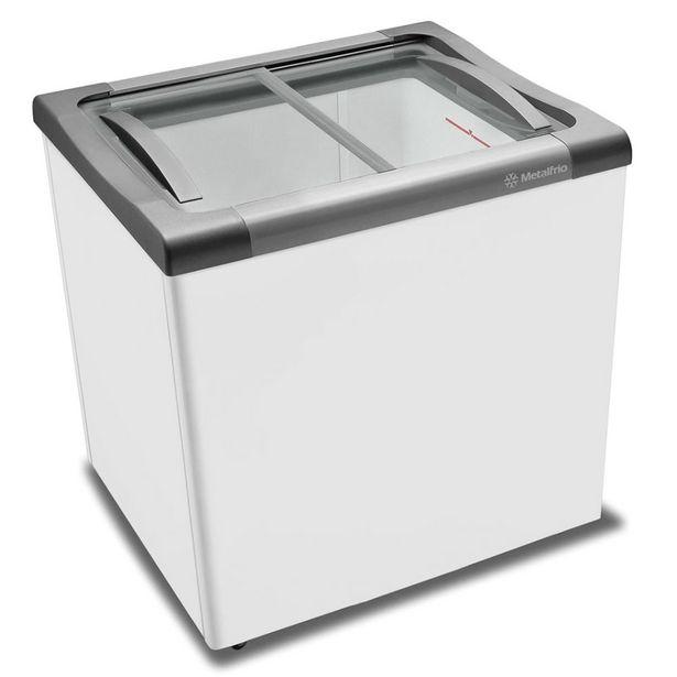 Oferta de Freezer horizontal tampa de vidro para sorvetes e congelados 180 litros NF20S Supra Metalfrio por R$2299