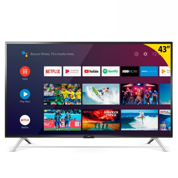 "Oferta de Smart TV Led 43"" 43S5300 Full HD com WiFi e Entrada HDMI Semp Tcl Preto por R$1899"