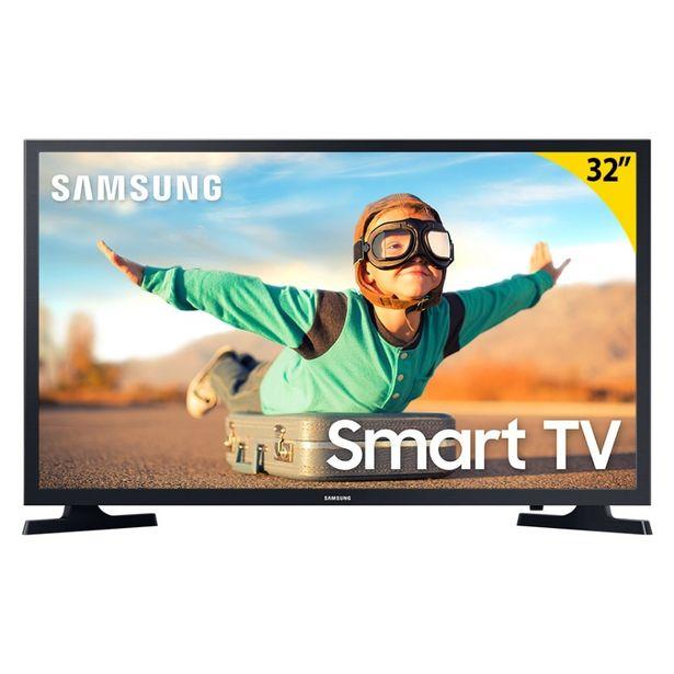 """Oferta de Smart TV LED 32"""" Samsung UN32T4300AGXZD Wi-Fi HDR 2 HDMI 1 USB por R$1459"""