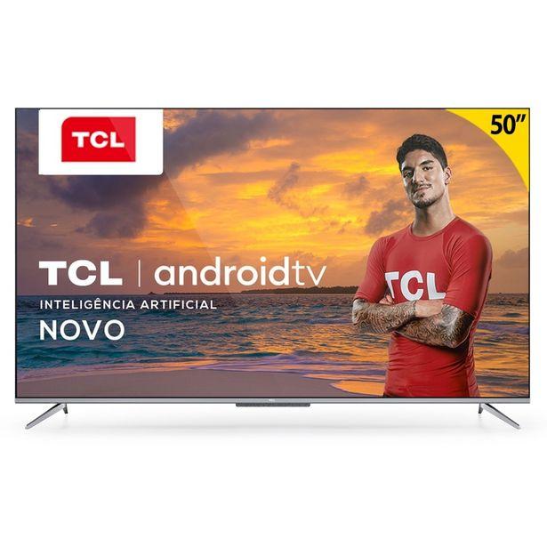 """Oferta de Smart TV LED 50"""" Semp UHD 4k P715 Processador Quad-core 3 HDMI 2 USB por R$2499"""