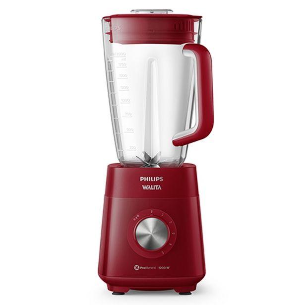 Oferta de Liquidificador Philips RI2240-40 3 Litros 5 Velocidades 1200W Vermelho por R$149