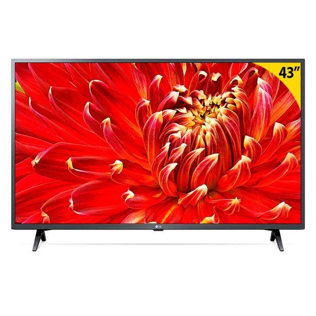 "Oferta de Smart TV LED 43"" LG 43LM6300PSB Full HD Wi-Fi - Inteligência Artificial 3 HDMI 2 USB por R$2494,8"