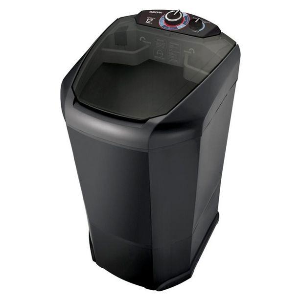 Oferta de Lavadora Semiautomática Lavamatic 12Kg LC1242PT Suggar Preta por R$499