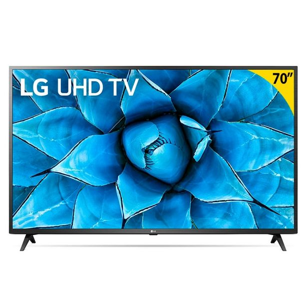 "Oferta de Smart TV LED 70"" UHD 4K LG 70UN7310PSC com Wi-Fi, Bluetooth, HDR, Inteligência Artificial ThinQ AI, Google Assistente, Alexa, Controle Smart Magic por R$4999"