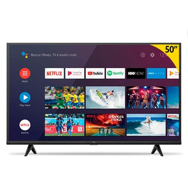 """Oferta de Smart TV Semp TCL P615 Led 50"""" UHD 4K 3 HDMI 2 USB por R$3118,8"""