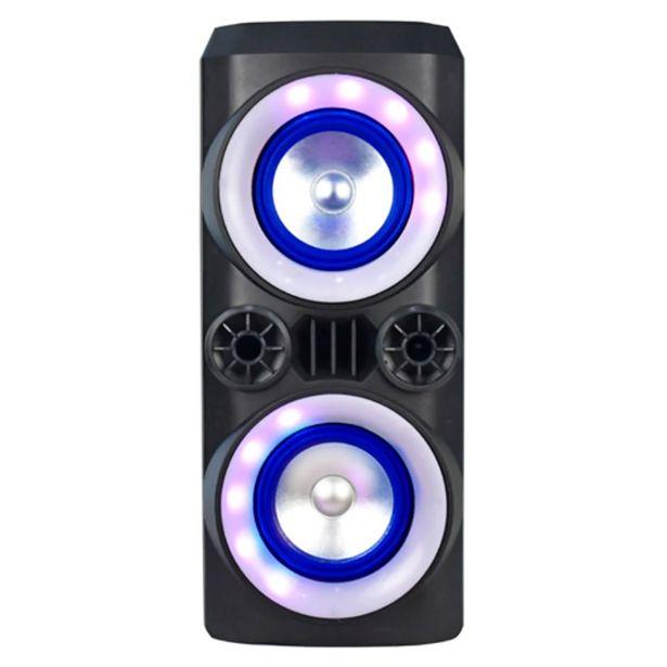 Oferta de Caixa Amplificada Multilaser SP379 Mini Torre Neon Bluetooth Preto por R$499
