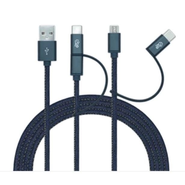 Oferta de Cabo Micro USB/USB-C i2Go 1,5 por R$77