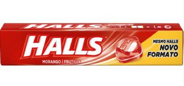 Oferta de Drops Halls Morango 28g por R$2,09