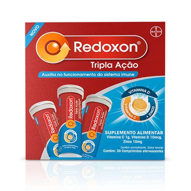 Oferta de Redoxon Tripla Ação Com 30 Comprimidos Efervecentes por R$41,5