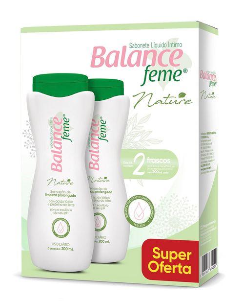 Oferta de Sabonete Íntimo Balance Feme Nature 200ml Kit Com 2 Unidades por R$12,99