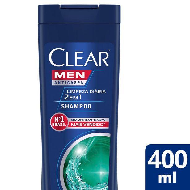 Oferta de Shampoo Anticaspa Clear Men Limpeza Diária 2 Em 1 400 Ml por R$17,9