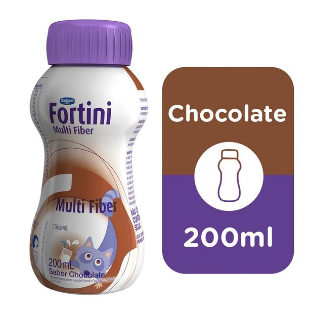 Oferta de Fortini Multi Fiber Chocolate 200ml por R$9,99