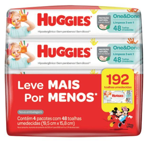 Oferta de Toalha Umedecidos Huggies Clássico L4p3 - 192 Toalhas por R$33,49
