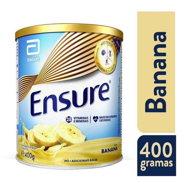 Oferta de Suplemento Adulto Ensure Pó Sabor Banana 400g por R$49,99