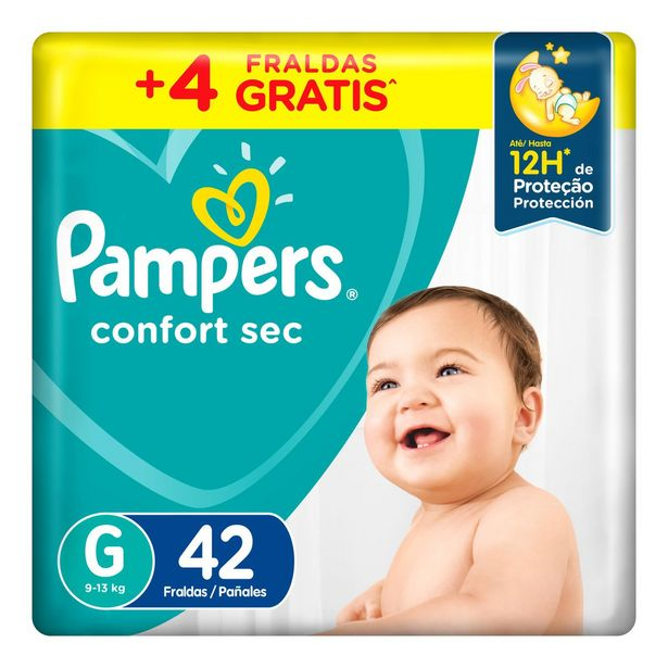 Oferta de Fralda Pampers Confort Sec  G 42 Unidades por R$46,49