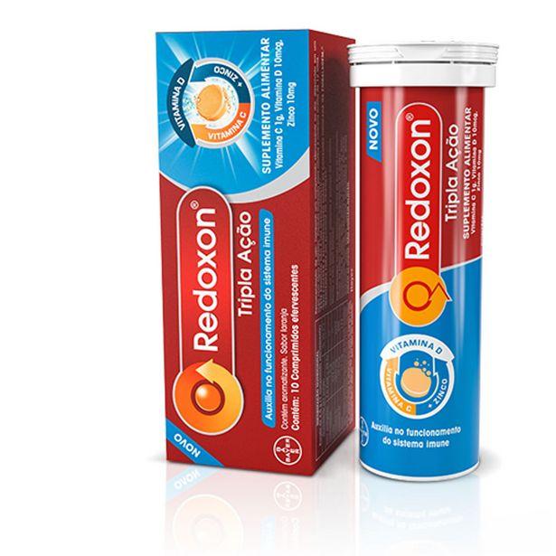 Oferta de Redoxon Tripla Ação Com 10 Comprimidos Efervecentes por R$17,33