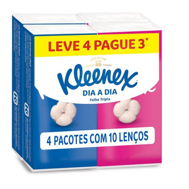 Oferta de Lenço de Papel de Bolso Kleenex Dia a Dia Leve 4 Pague 3 por R$5,59