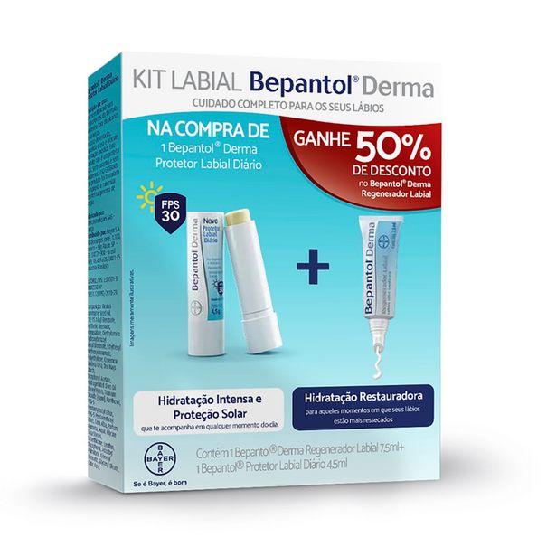 Oferta de Bepantol Derma Protetor Labial Diario Fps50 7,5ml Com 50% De Desconto No Regenerador Labial 4,5ml por R$44,9
