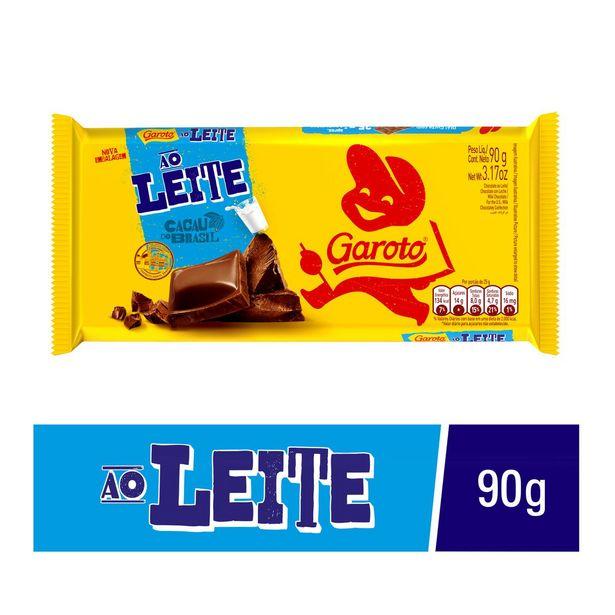 Oferta de Chocolate Garoto Ao Leite 90g por R$6,39