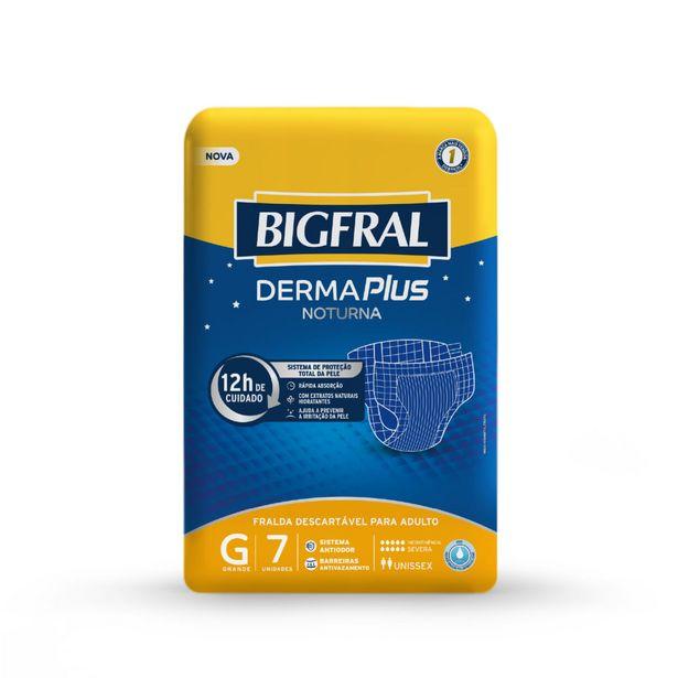 Oferta de Fralda Geriátricas Bigfral Noturna Tamanho G Com 7 Unidades por R$27,99