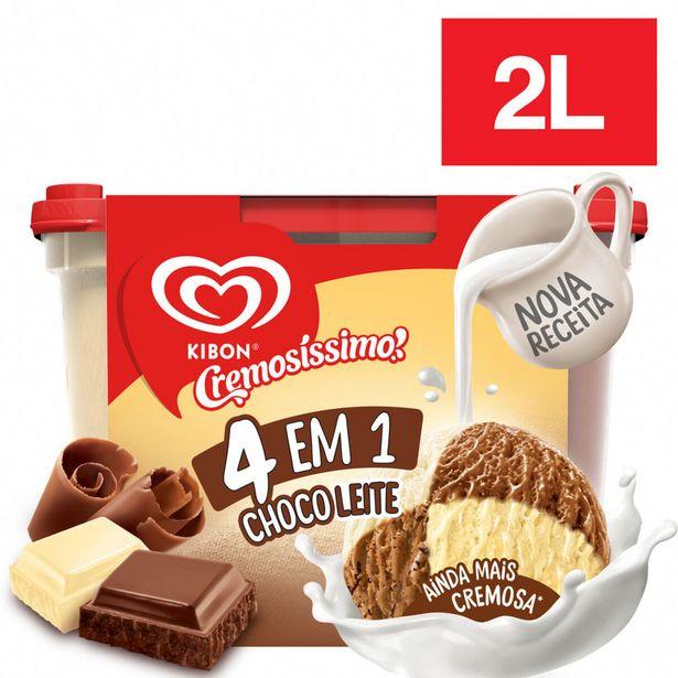 Oferta de Sorvete Cremosíssimo 4 Em 1 Chocoleite 2 Litros por R$23,25