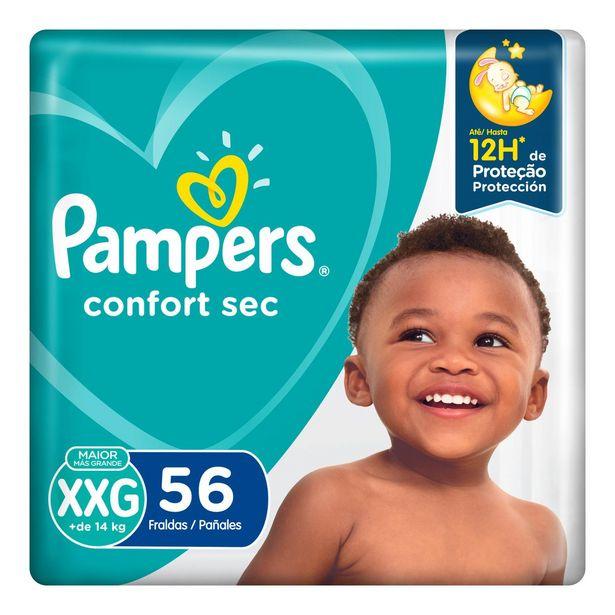 Oferta de Fraldas Pampers Confort Sec Xxg 56 Unidades por R$72,99