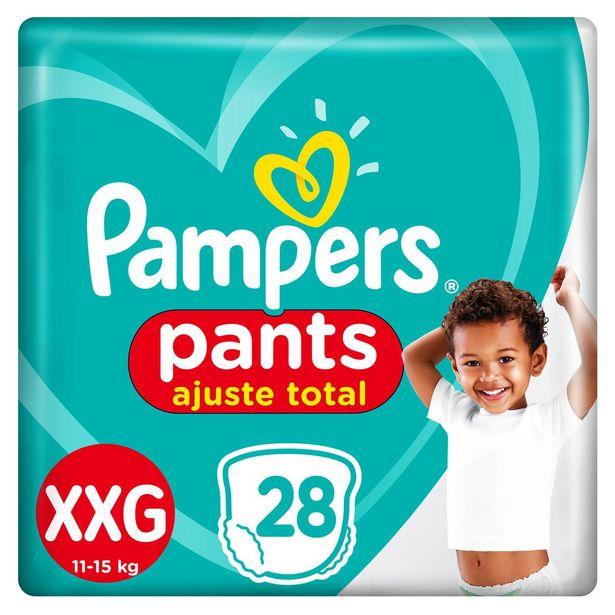 Oferta de Fralda Pampers Pants Ajuste Total Mega Tamanho Xxg Com 28 Unidades por R$41,99