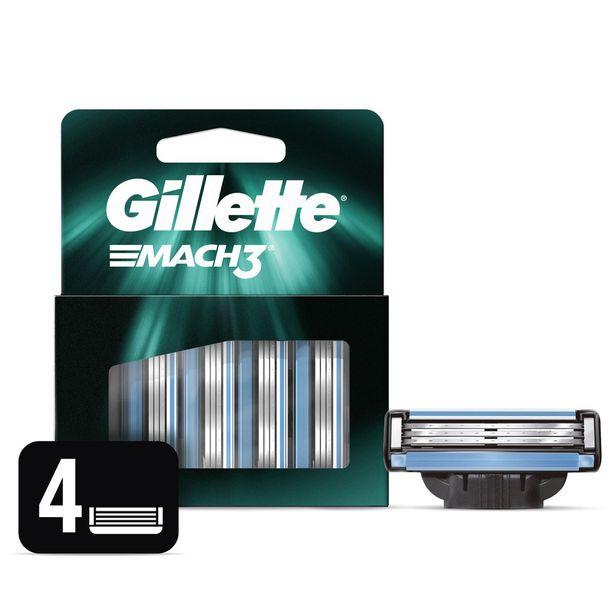 Oferta de Carga Gillette  Mach3 Com 4 Unidades por R$39,99