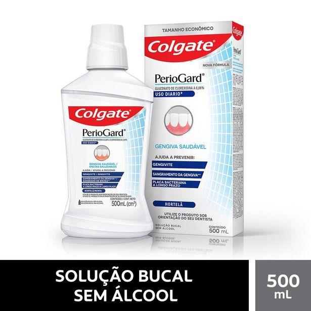 Oferta de Enxaguatório Bucal Colgate Periogard Uso Diario Hortelã Zero Álcool 500ml por R$47,99
