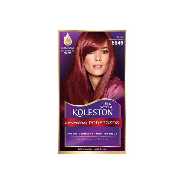 Oferta de Tintura Koleston Cereja 6646 por R$27,99