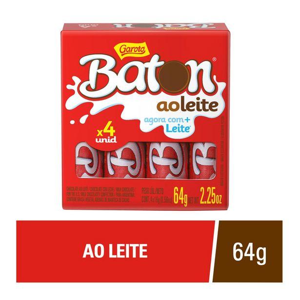 Oferta de Choc Batom Garoto Ao Leite Com 4 Unidades por R$5,49