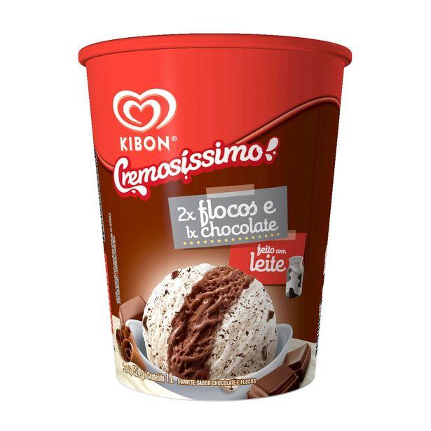 Oferta de Sorvete Cremosissimo 2x Flocos 1x Chocolate 1l por R$11,55