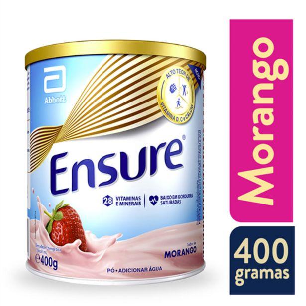 Oferta de Suplemento Adulto Ensure Pó Sabor Morango 400g por R$56,99
