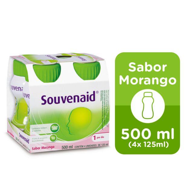 Oferta de Souvenaid Com 4 Unidades Sabor Morango 125ml por R$71,99