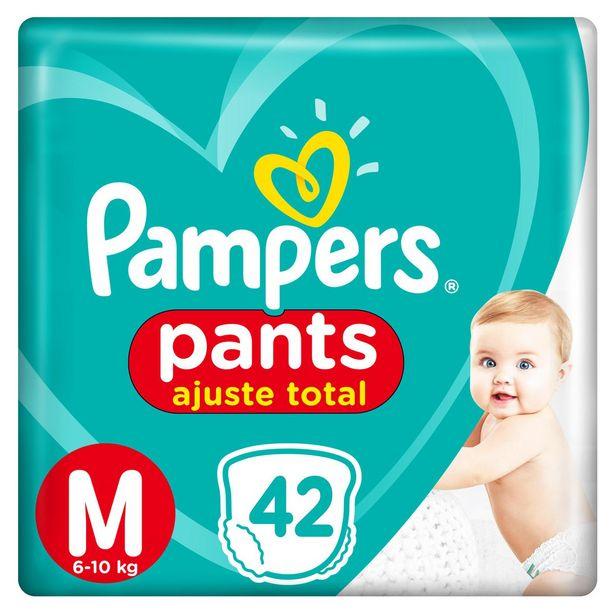 Oferta de Fralda Pampers Pants Ajuste Total Mega Tamanho  M Com 42 Unidades por R$41,99