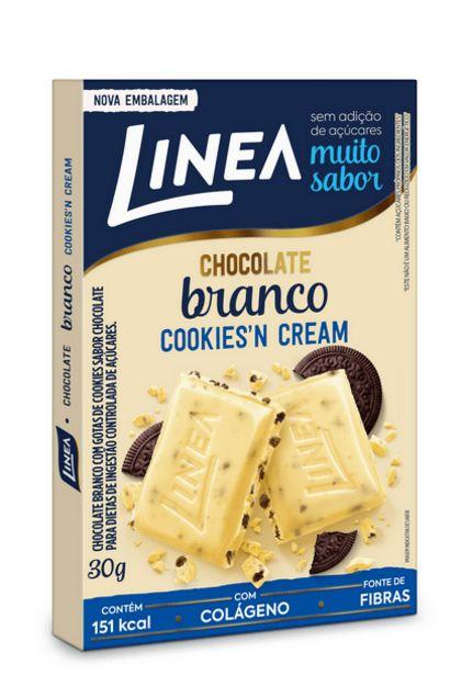Oferta de Chocolate Linea Branco Zero Açucar Cookieas Cream 30g por R$5,29
