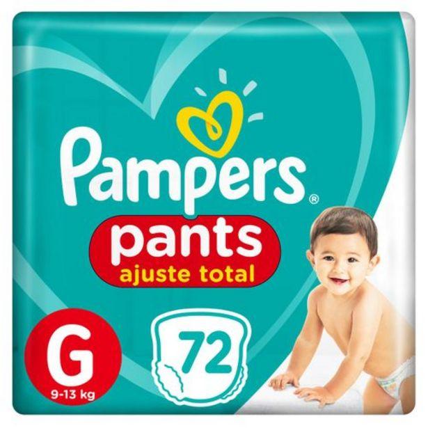 Oferta de Fralda Pampers Pants Ajuste Total Giga Tamanho G Com 72 Unidades por R$74,99