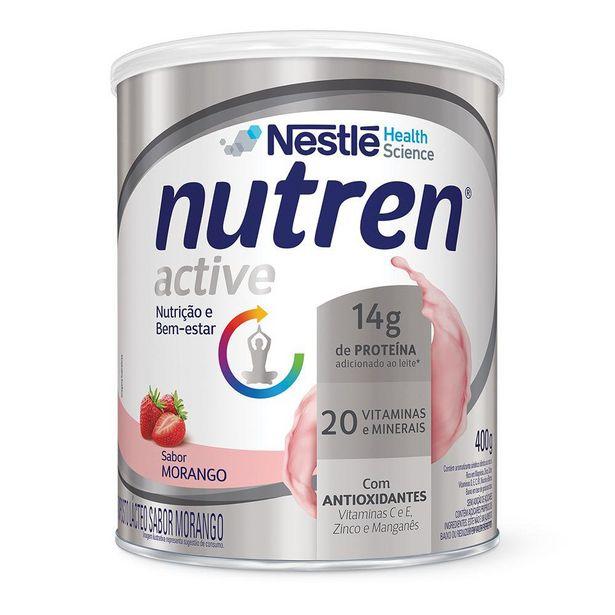 Oferta de Suplemento Alimentar NUTREN ACTIVE Morango 400g por R$48,99