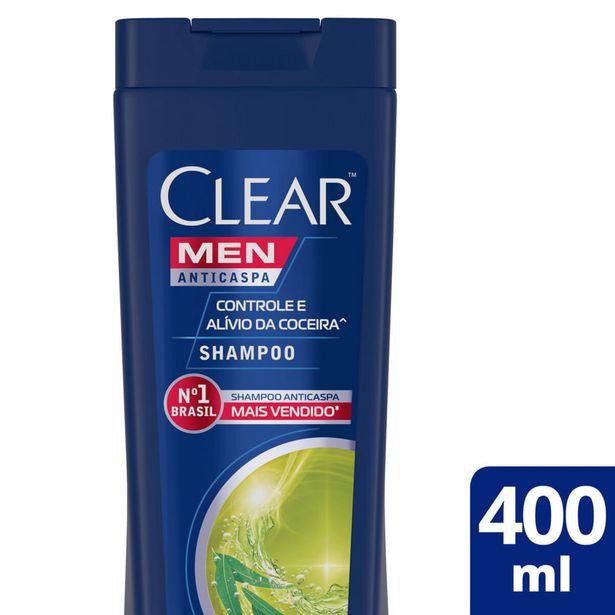 Oferta de Shampoo Clear Controle Coceira 400ml por R$22,49