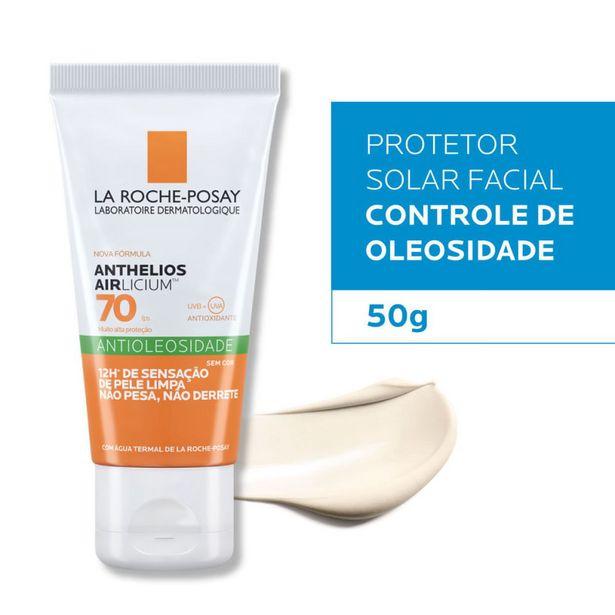 Oferta de Protetor Solar Facial Antioleosidade La Roche-Posay Anthelios Airlicium Fps70 50g por R$84,9