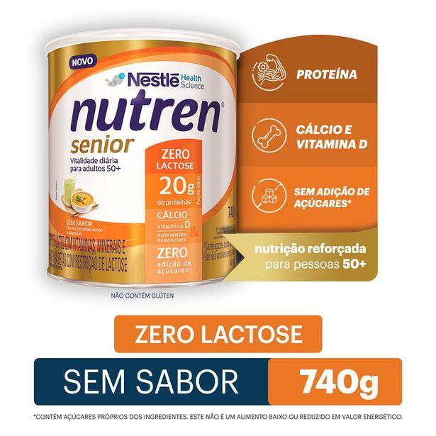 Oferta de Nutren Senior Zero Lactose Sem Sabor 740g por R$136,99