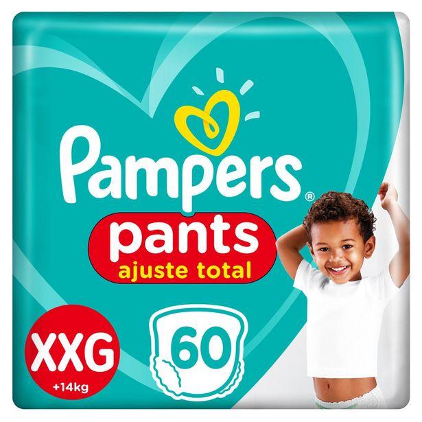 Oferta de Fralda Pampers Pants Ajuste Total Giga Tamanho Xxg Com 60 Unidades por R$89,99