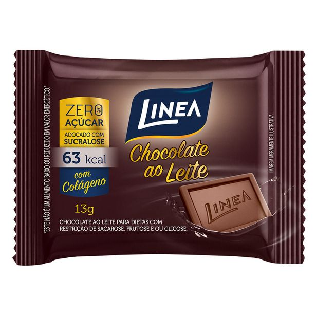 Oferta de Chocolate Lineaao Leite Diet 13g por R$2,49