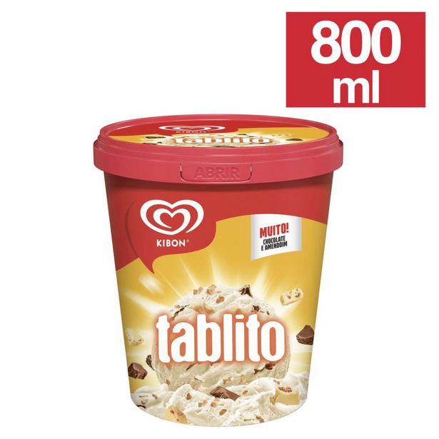 Oferta de Sorvete Kibon Tablito 800ml por R$21,1