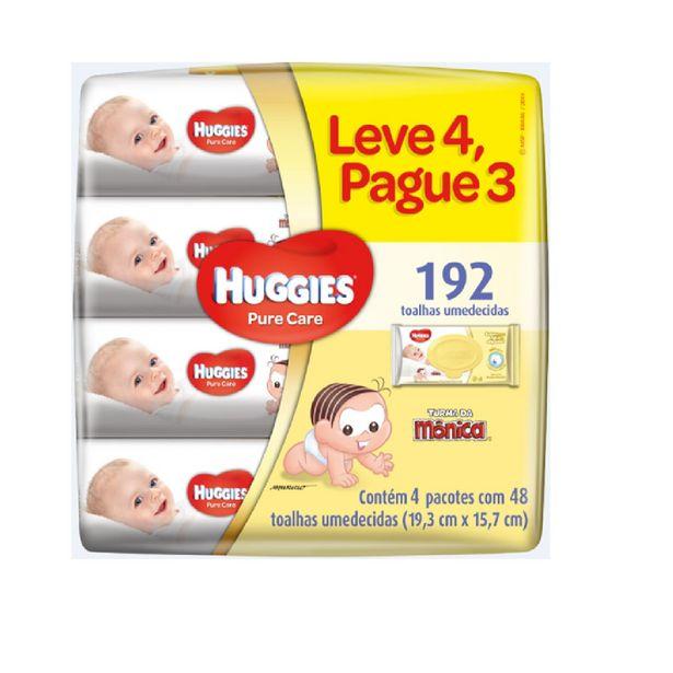 Oferta de Lenços Umedecidos Huggies Pure Care Com 48 Unidades Leve 4 Pague 3 por R$32,49
