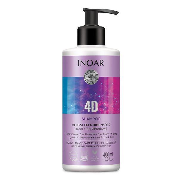 Oferta de Shampoo Inoar 4d 400ml por R$19,24