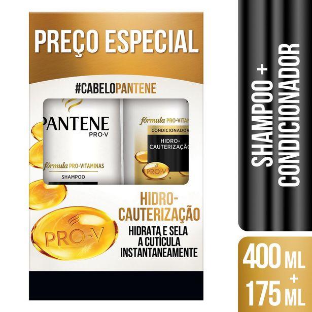 Oferta de Shampoo 400ml + Condicionador 175ml Pantene Hidro-Cauterização por R$26,99