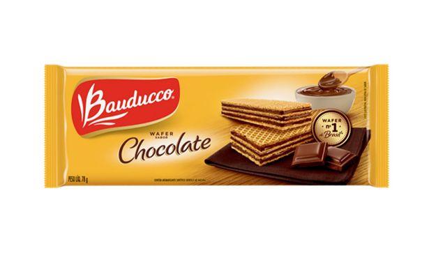 Oferta de Biscoito Bauducco Wafer Chocolate 78g por R$1,99