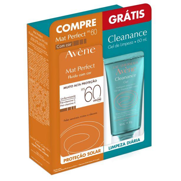 Oferta de Avene Mat Perfec Fps60 Com Cor 50ml Gratis Gel Cleance 60ml por R$67,99